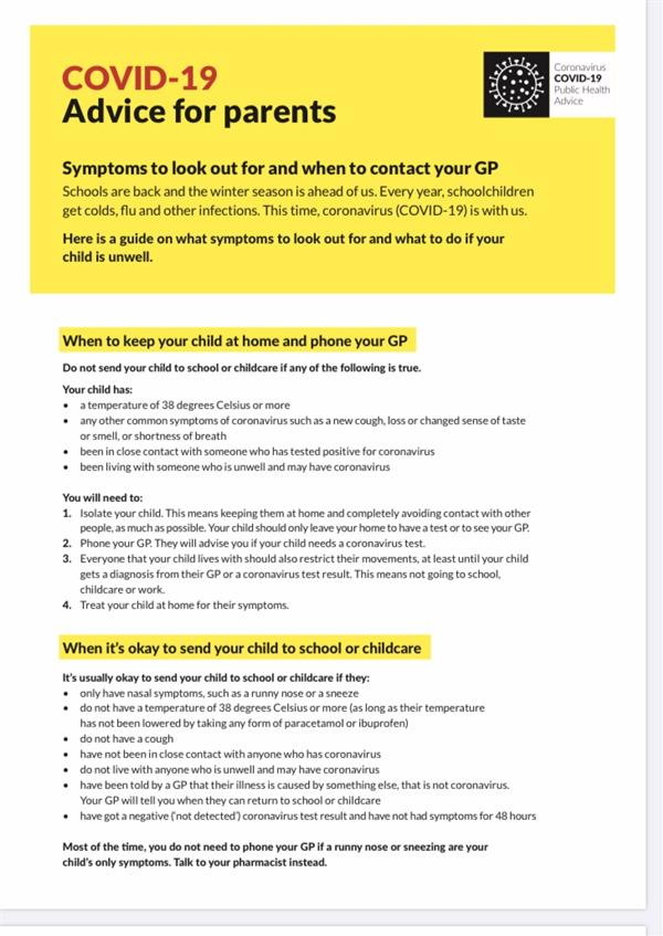 Back to school advice for parents