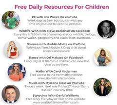 Free Daily Resources For Children