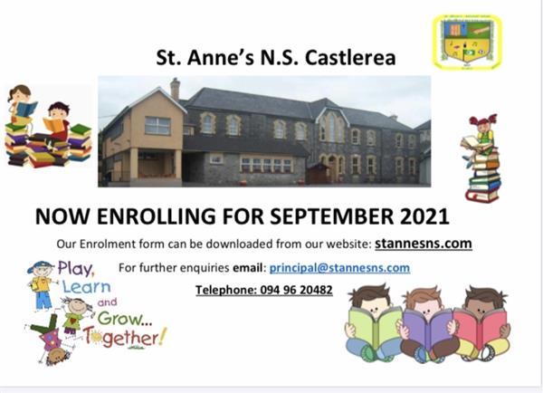 St. Anne's N.S. now enrolling for September 2021